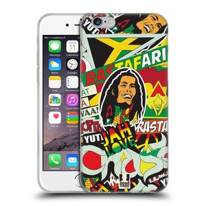Silikonové pouzdro na mobil Apple iPhone 6 a 6S HEAD CASE RASTA