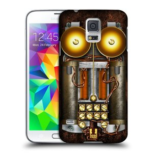Plastové pouzdro na mobil Samsung Galaxy S5 Neo HEAD CASE STEAMPUNK TELEFON
