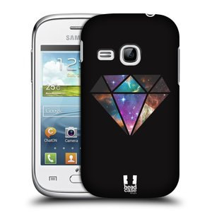 Plastové pouzdro na mobil Samsung Galaxy Young HEAD CASE MIX DIAMANT