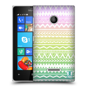 Plastové pouzdro na mobil Microsoft Lumia 435 HEAD CASE MIX AZTEC DRAWN