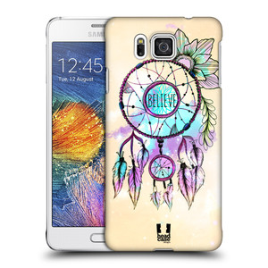 Plastové pouzdro na mobil Samsung Galaxy Alpha HEAD CASE MIX BELIEVE