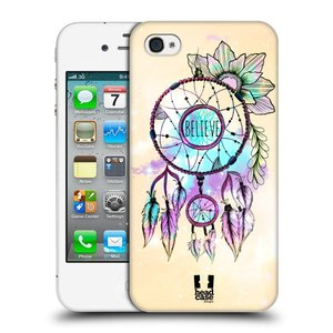 Plastové pouzdro na mobil Apple iPhone 4 a 4S HEAD CASE MIX BELIEVE