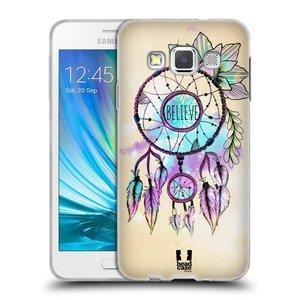 Silikonové pouzdro na mobil Samsung Galaxy A3 HEAD CASE MIX BELIEVE