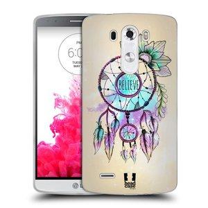 Silikonové pouzdro na mobil LG G3 HEAD CASE MIX BELIEVE