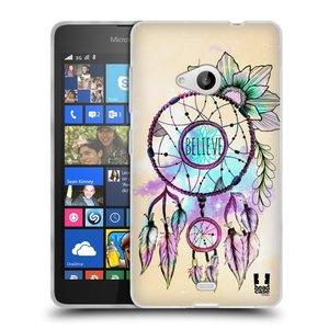 Silikonové pouzdro na mobil Microsoft Lumia 535 HEAD CASE MIX BELIEVE