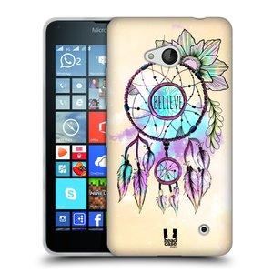 Silikonové pouzdro na mobil Microsoft Lumia 640 HEAD CASE MIX BELIEVE