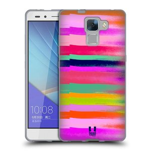 Silikonové pouzdro na mobil Honor 7 HEAD CASE MIX COLOR STRIPES
