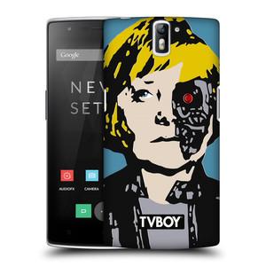 Plastové pouzdro na mobil OnePlus One HEAD CASE - TVBOY - Merkenator - Angela Merkelová