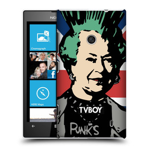 Plastové pouzdro na mobil Nokia Lumia 520 HEAD CASE - TVBOY - Punková Královna