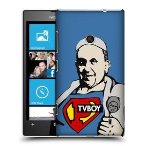 Plastové pouzdro na mobil Nokia Lumia 520 HEAD CASE - TVBOY - Super Papež
