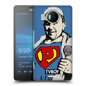 Plastové pouzdro na mobil Microsoft Lumia 950 XL HEAD CASE - TVBOY - Super Papež