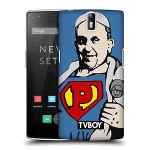 Plastové pouzdro na mobil OnePlus One HEAD CASE - TVBOY - Super Papež