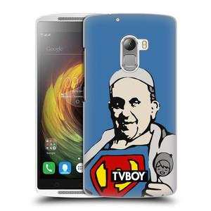 Plastové pouzdro na mobil Lenovo A7010 HEAD CASE - TVBOY - Super Papež