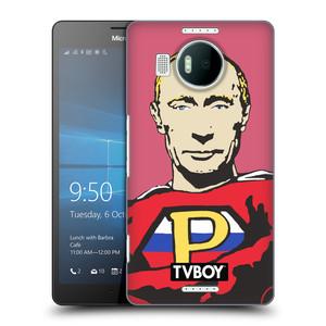 Plastové pouzdro na mobil Microsoft Lumia 950 XL HEAD CASE - TVBOY - Super Putin