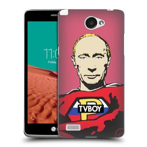 Plastové pouzdro na mobil LG Bello II HEAD CASE - TVBOY - Super Putin