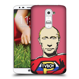 Plastové pouzdro na mobil LG G2 HEAD CASE - TVBOY - Super Putin