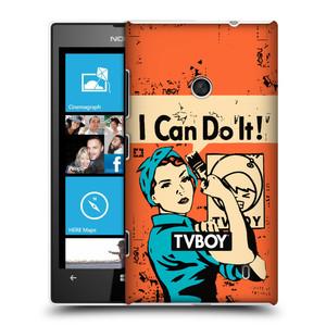 Plastové pouzdro na mobil Nokia Lumia 520 HEAD CASE - TVBOY - I can do it
