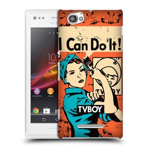 Plastové pouzdro na mobil Sony Xperia M C1905 HEAD CASE - TVBOY - I can do it