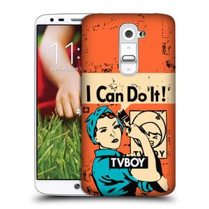 Plastové pouzdro na mobil LG G2 HEAD CASE - TVBOY - I can do it