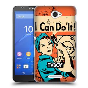 Plastové pouzdro na mobil Sony Xperia E4 E2105 HEAD CASE - TVBOY - I can do it