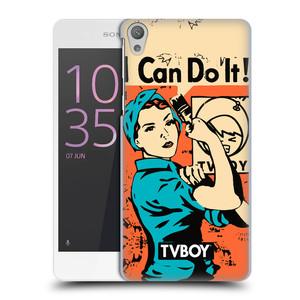 Plastové pouzdro na mobil Sony Xperia E5 HEAD CASE - TVBOY - I can do it
