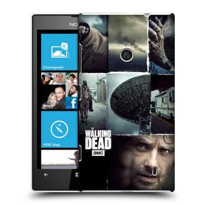Plastové pouzdro na mobil Nokia Lumia 520 HEAD CASE Živí mrtví - Koláž