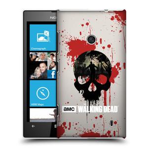 Plastové pouzdro na mobil Nokia Lumia 520 HEAD CASE Živí mrtví - Lebka