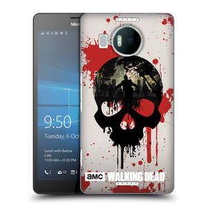 Plastové pouzdro na mobil Microsoft Lumia 950 XL HEAD CASE Živí mrtví - Lebka