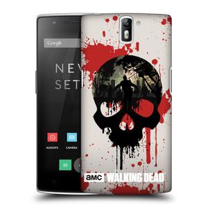 Plastové pouzdro na mobil OnePlus One HEAD CASE Živí mrtví - Lebka