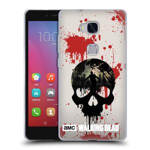 Silikonové pouzdro na mobil Honor 5X HEAD CASE Živí mrtví - Lebka