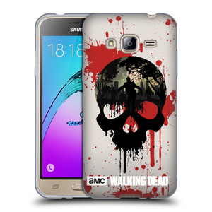 Silikonové pouzdro na mobil Samsung Galaxy J3 (2016) HEAD CASE Živí mrtví - Lebka