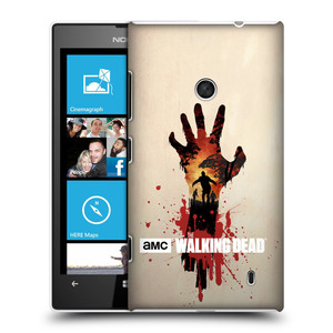 Plastové pouzdro na mobil Nokia Lumia 520 HEAD CASE Živí mrtví - Ruka