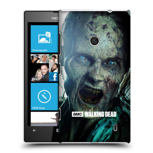 Plastové pouzdro na mobil Nokia Lumia 520 HEAD CASE The Walking Dead - Walker Bite