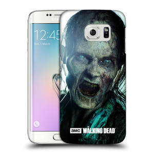 Plastové pouzdro na mobil Samsung Galaxy S6 Edge HEAD CASE The Walking Dead - Walker Bite