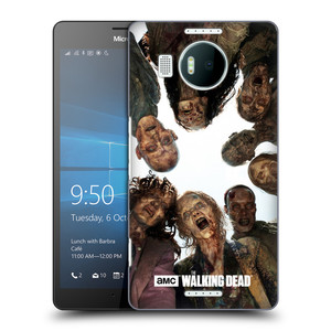 Plastové pouzdro na mobil Microsoft Lumia 950 XL HEAD CASE Živí mrtví - Walkers Group