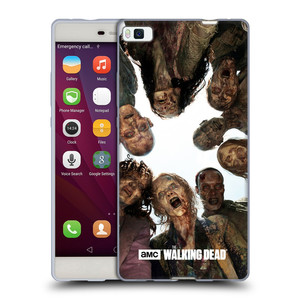 Silikonové pouzdro na mobil Huawei P8 HEAD CASE Živí mrtví - Walkers Group