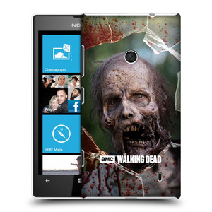 Plastové pouzdro na mobil Nokia Lumia 520 HEAD CASE The Walking Dead - Walkers Jaw