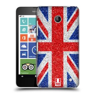 Plastové pouzdro na mobil Nokia Lumia 630 HEAD CASE UNION GLITTER