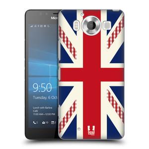 Plastové pouzdro na mobil Microsoft Lumia 950 HEAD CASE UNION GINHGAM