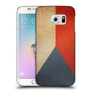 Plastové pouzdro na mobil Samsung Galaxy S6 Edge HEAD CASE VLAJKA ČESKÁ REPUBLIKA