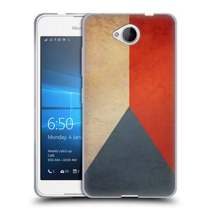 Silikonové pouzdro na mobil Microsoft Lumia 650 HEAD CASE VLAJKA ČESKÁ REPUBLIKA