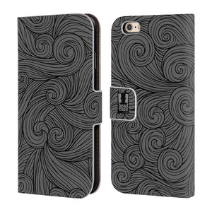 Flipové pouzdro na mobil Apple iPhone 6 a 6S HEAD CASE Dark Grey Swirls