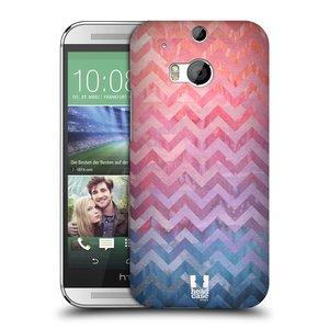 Plastové pouzdro na mobil HTC ONE M8 HEAD CASE Pink Chevron