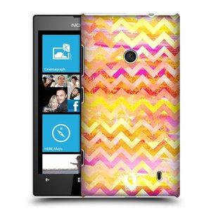 Plastové pouzdro na mobil Nokia Lumia 520 HEAD CASE Yellow Chevron