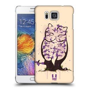 Plastové pouzdro na mobil Samsung Galaxy Alpha HEAD CASE BLOOM KOČKA