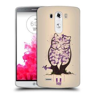 Silikonové pouzdro na mobil LG G3 HEAD CASE BLOOM KOČKA