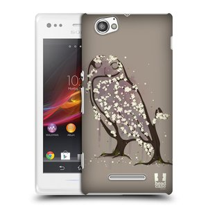 Plastové pouzdro na mobil Sony Xperia M C1905 HEAD CASE BLOOM SOVA