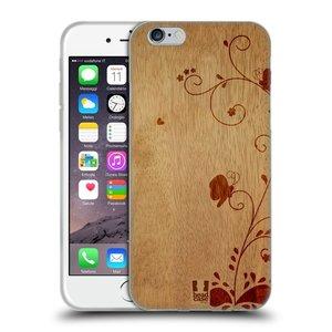 Silikonové pouzdro na mobil Apple iPhone 6 a 6S HEAD CASE WOODART SWIRL