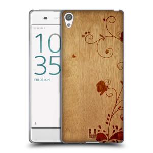 Silikonové pouzdro na mobil Sony Xperia XA HEAD CASE WOODART SWIRL