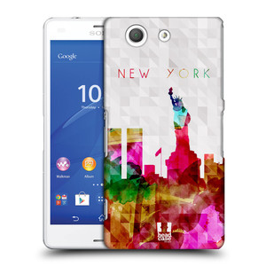 Plastové pouzdro na mobil Sony Xperia Z3 Compact D5803 HEAD CASE SKYLINE NEW YORK